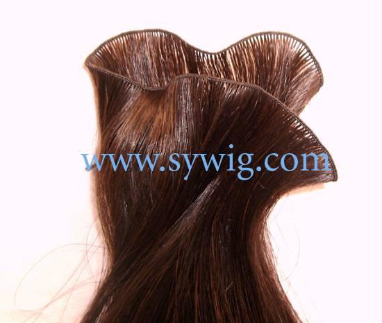 hand tied hair weft/hair weaving/hair wave