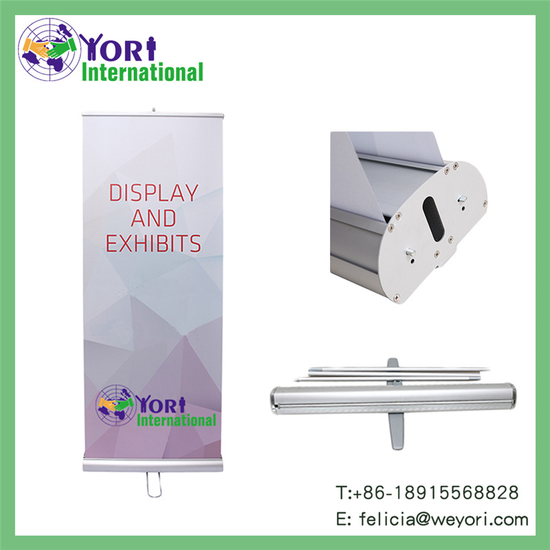 Yori high quality full color fan roll up banner stand