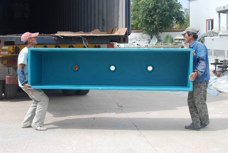 Anti-corrosion rectangular FRP fish tank from Qinhuangdao Shengze