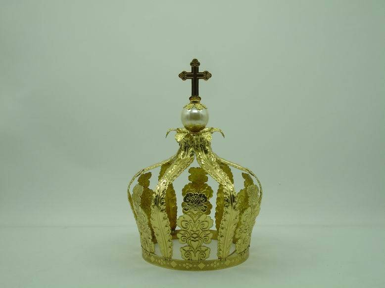 With Beautiful Artificial Gems and Cross High Quality Cross Religious Crown H4-1