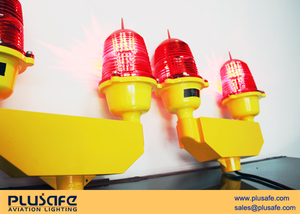 Double standby L810 Red Obstruction Light Aluminum Alloy Housing