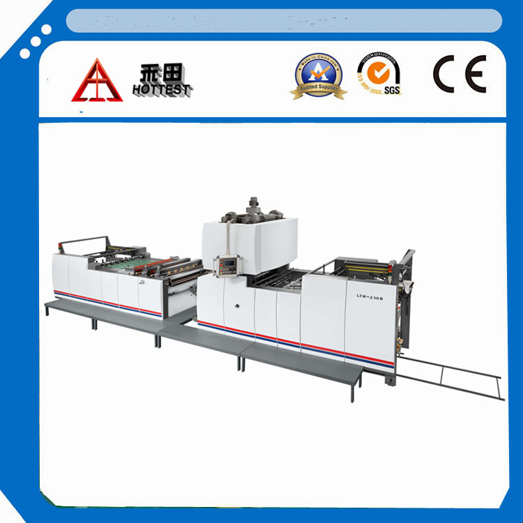 LFM-Z108L Automatic thermal and waterbased vertical laminating machine with chain knife