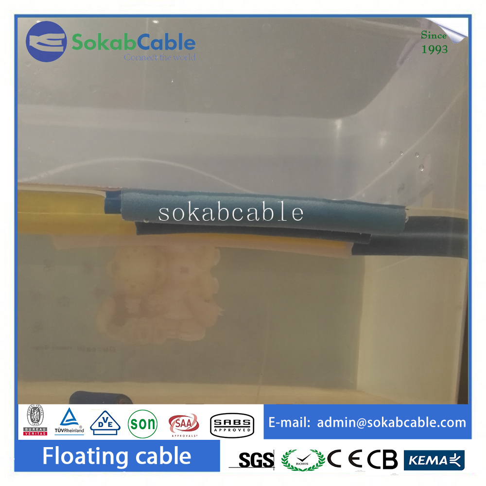 DNV/UL 2core 24.4mm PVC coated insulated underwater marine electrical wire cable