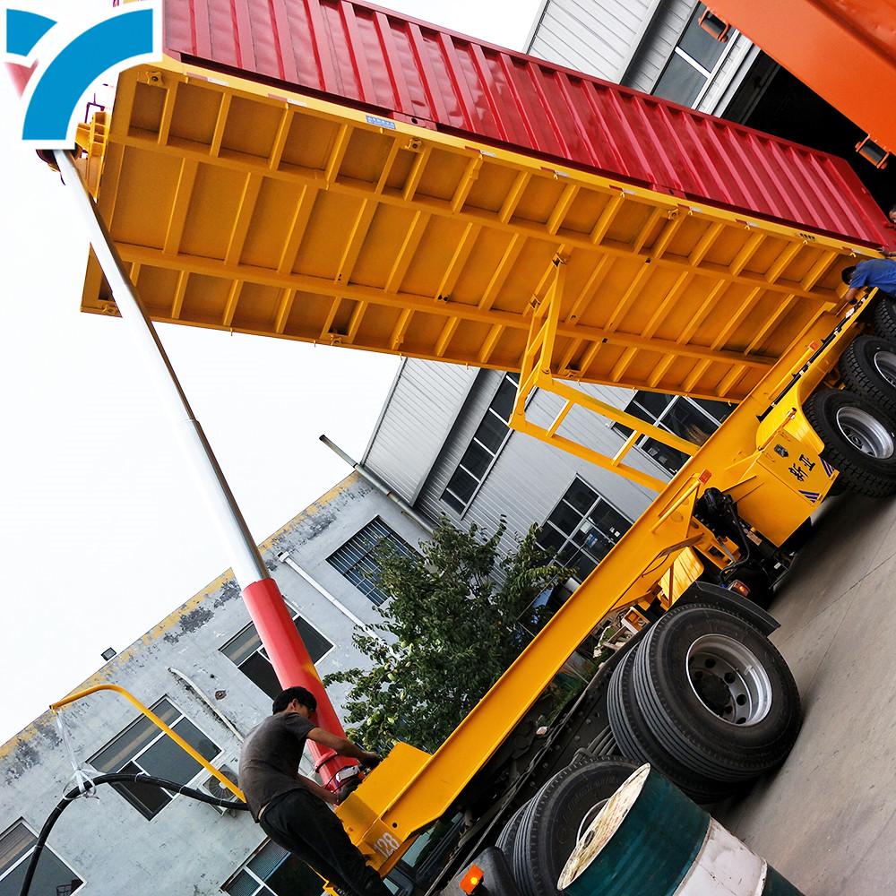 tipper dump unloading semi trailer