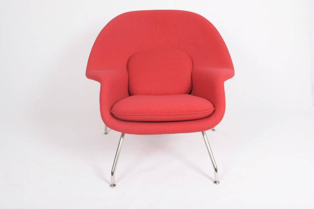 Womb chair and ottoman modern furniture Top Supplier cashmere wool Womb chair and ottoman
