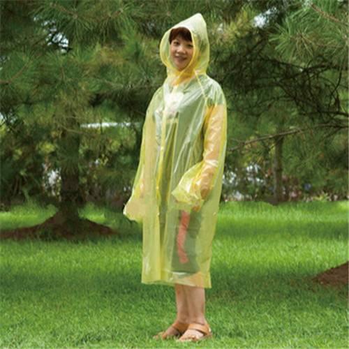 Adult Lightweight PE Raincoat