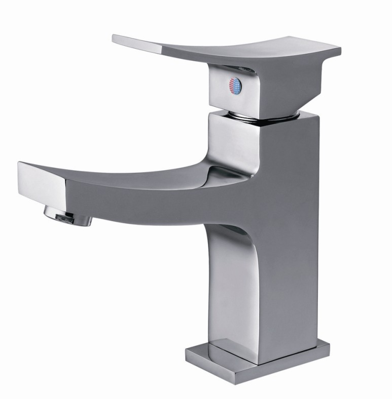 Single Handle and Hole Brass Basin Faucet  LD12161