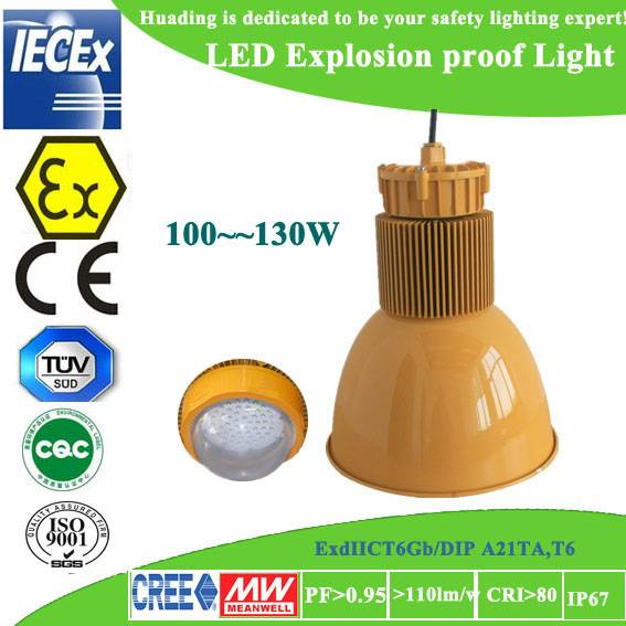 Atex certified CREE IP66 LED explosion proof canopy light for sale