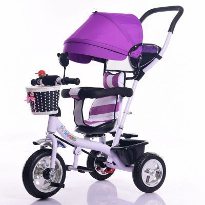 Xingtai Factory wholesale low price baby tricycle children bicycle, push baby tricycle with canopy