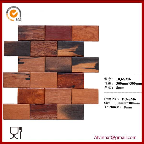 Reclaimed Wood Mosaic for Home Wall Decoration