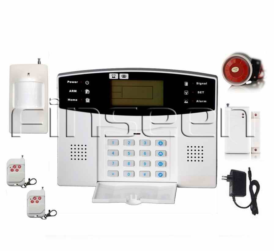 Quad-Band LCD GSM SMS Smart Wireless Home Alarm kits FS-AMG4199