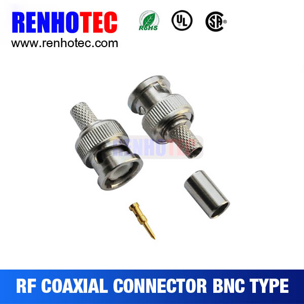 crimp type RF series bnc plug