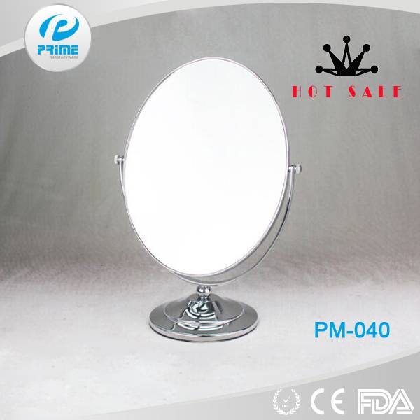 Oval double sided makeup desk mirror