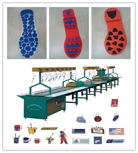PVC Automatic Production Line for Shoes' Trademark, Shoe Sole Making Machine