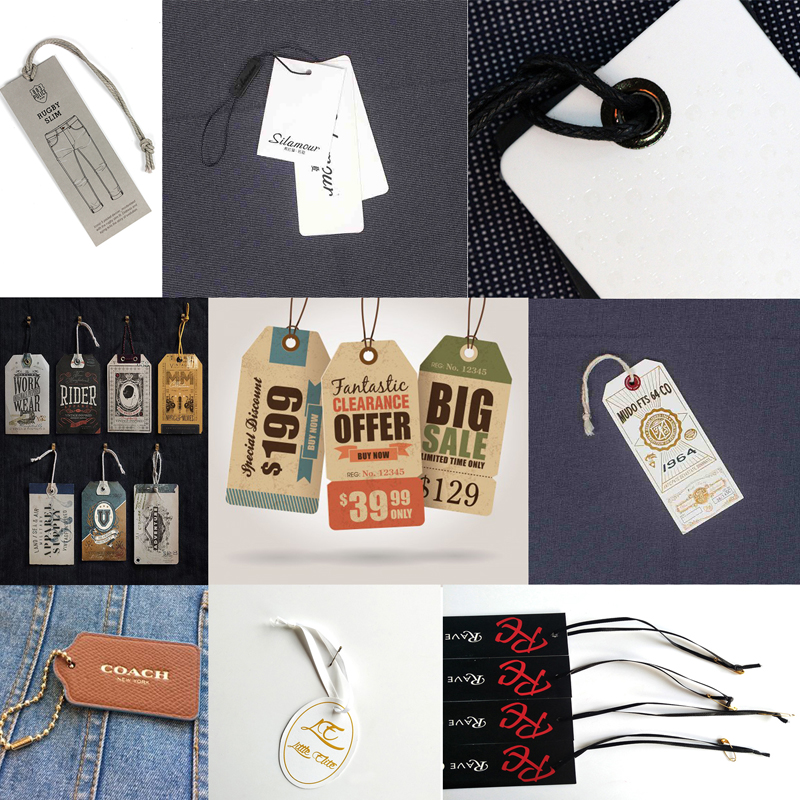 wholesale new design popular cheap hang tag for garment, sock,suit