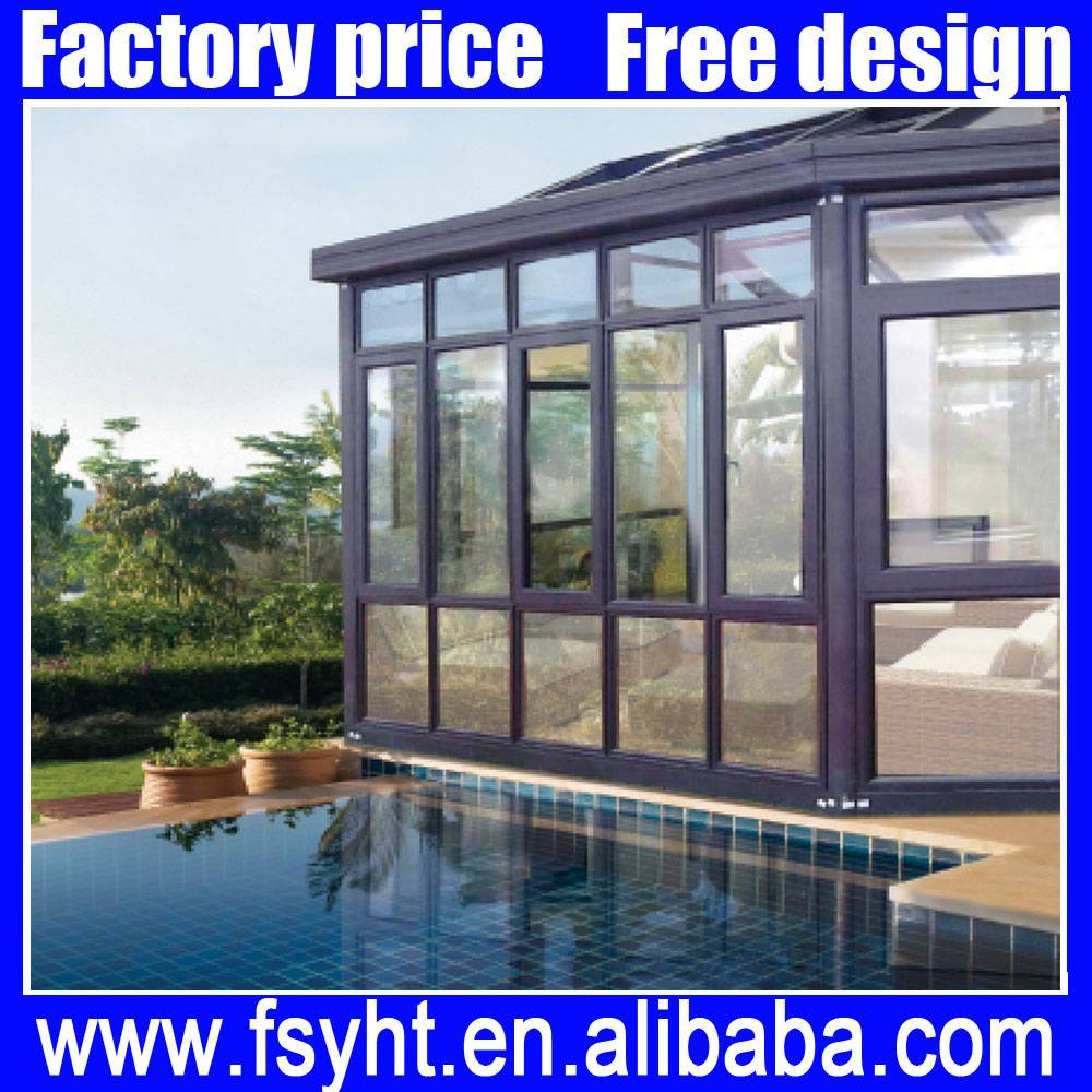 aluminum glass sun room /Outdoor glass house