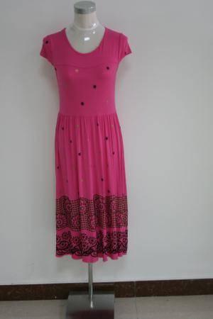 New fashion round neck women dress , latest sleeveless casual dress