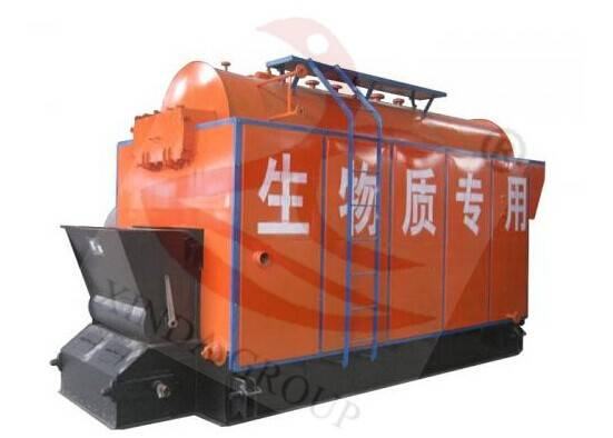 Wood/rice husk fired steam boiler for chicken house heating