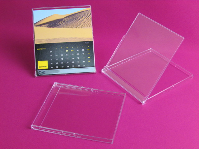Crystal cd calendar case super clear plastic wholesale