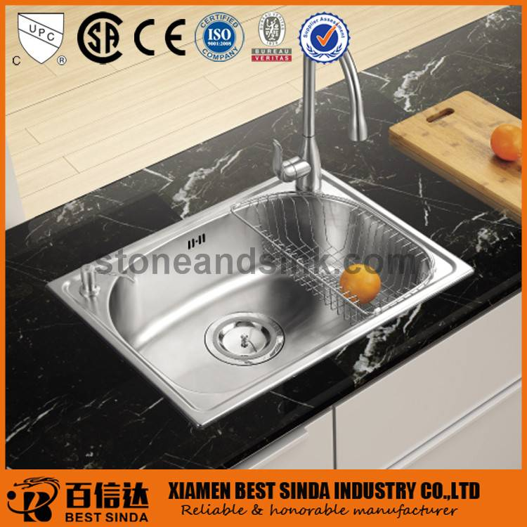 Rectangular drop in stainless kitchen sink