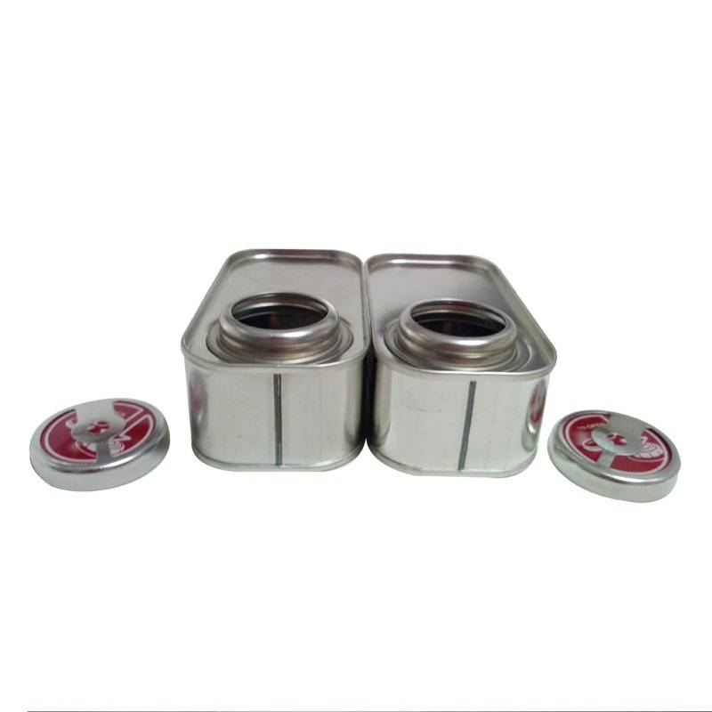 Rectangular 100ml High Quality Box Mini Tin Can Screw Top Sealing Type Tinplate Can