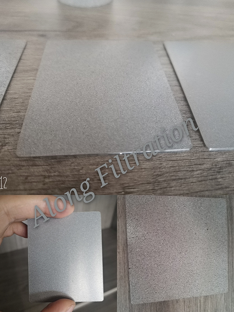 Corrosion resistant and clean type sintered porous stainless steel fluidized plate filter plate