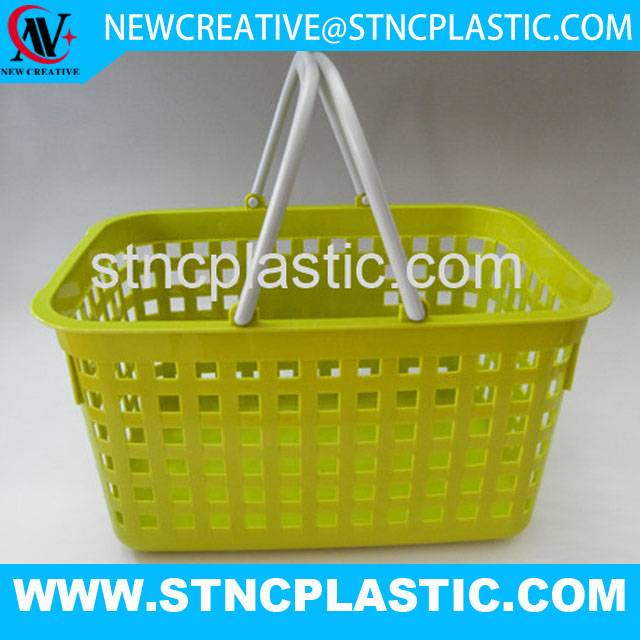 new design plastic storage basket with handle