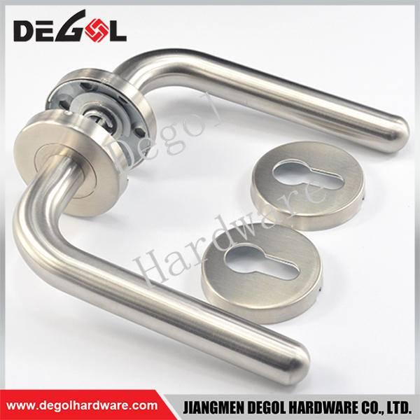 Latest stainless steel tube lever gun door handle
