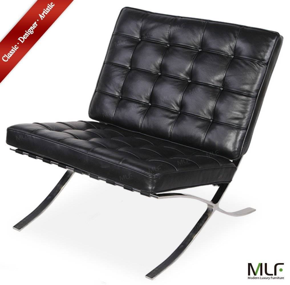 High Density Foam Cushions & Seamless Visible Corners MLF Knoll Barcelona Chair & Ottoman (5 Colors)