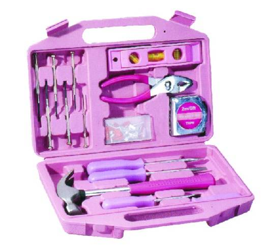 103PC Tool Kit with Pink Blow Molding Case