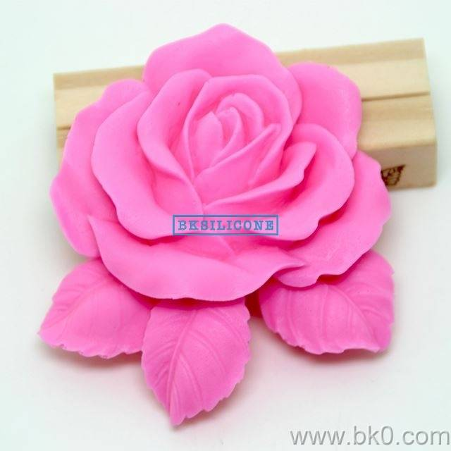Leafy Rose Cake Silicone Mold Cake Decorating Tools Silicone Cake Sugar Craft Tools Flower Mold  AA0