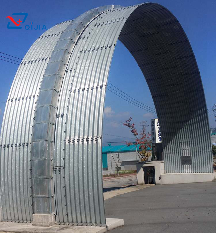 Semicircle large corrugation corrugated metal structure arch culvert
