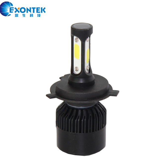 S3 30W with 3 Sides Auto LED Lamp H4 9004 9007 H13 High Power COB All-in-One LED Headlight Bulb for