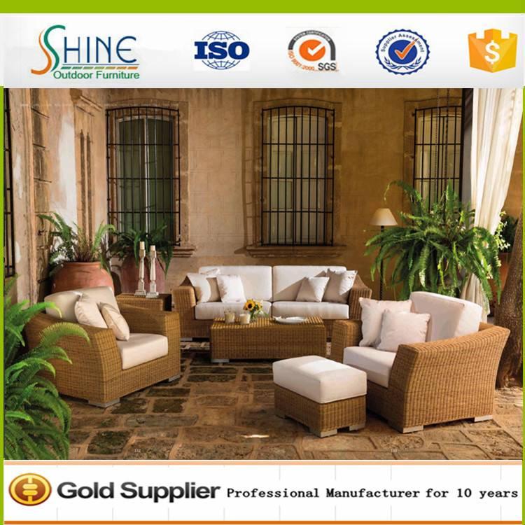 Pouf Sofa Furniture Luxury 5-Piece Multipurpose Rattan Sofa Set SFM3-20150525-04