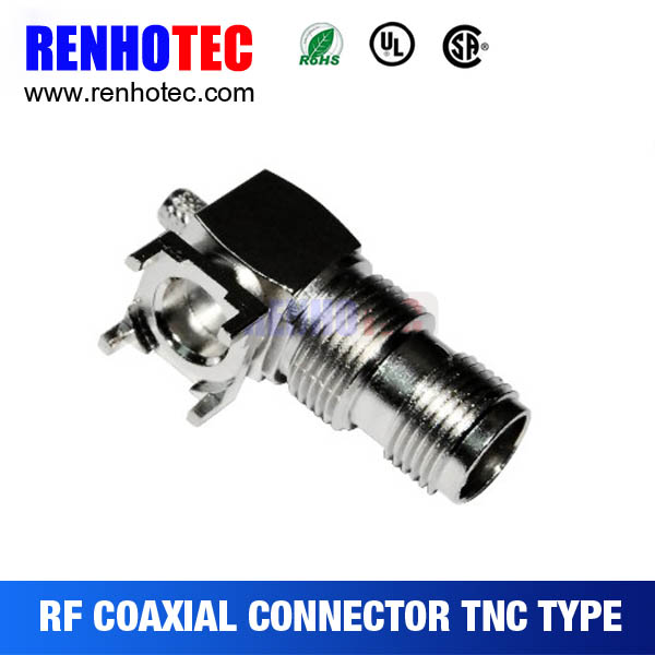 RF coaxial TNC jack for PCB mount