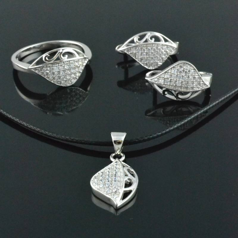 Custom Silver Ornament Jewelry Sets 925 Silver Finger Rings