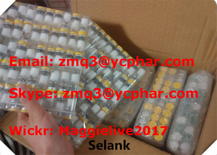 Lyophilized Powder Selank Peptide Steroid Hormones 5mg / Vial For Improving Focus Ability