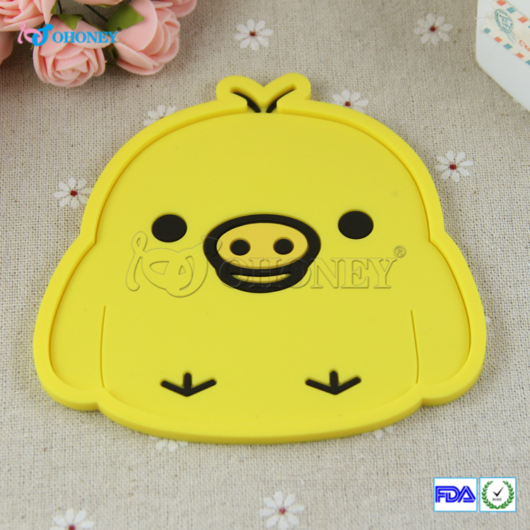 silicone dining table placemat coaster kitchen accessories mat cup bar mug cartoon animal drink pads