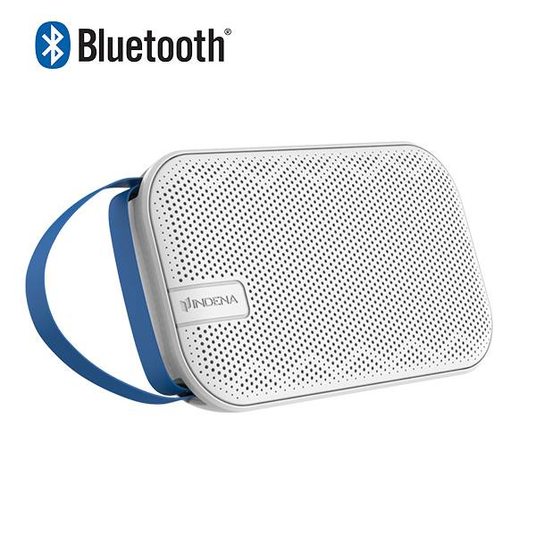 Portable handheld stereo wireless bluetooth speaker with leather strap