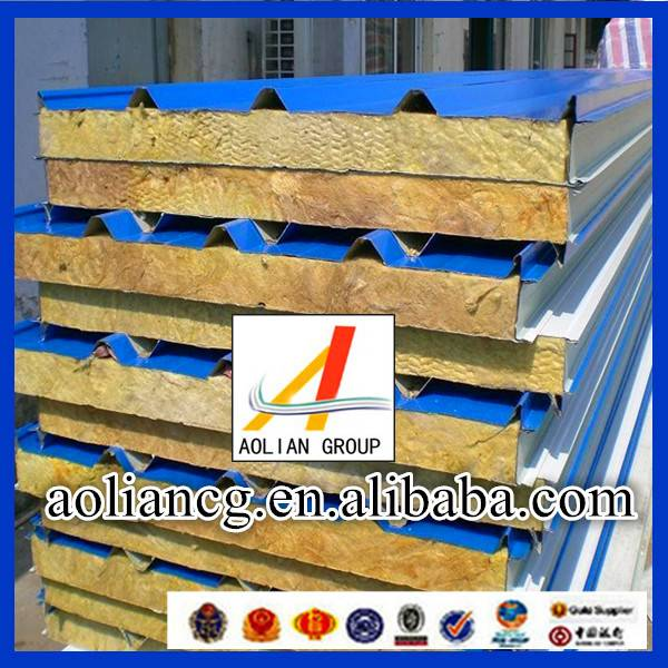 Construction Rock Wool Sandwich Panel Flat Pack China Prefabricated Homes
