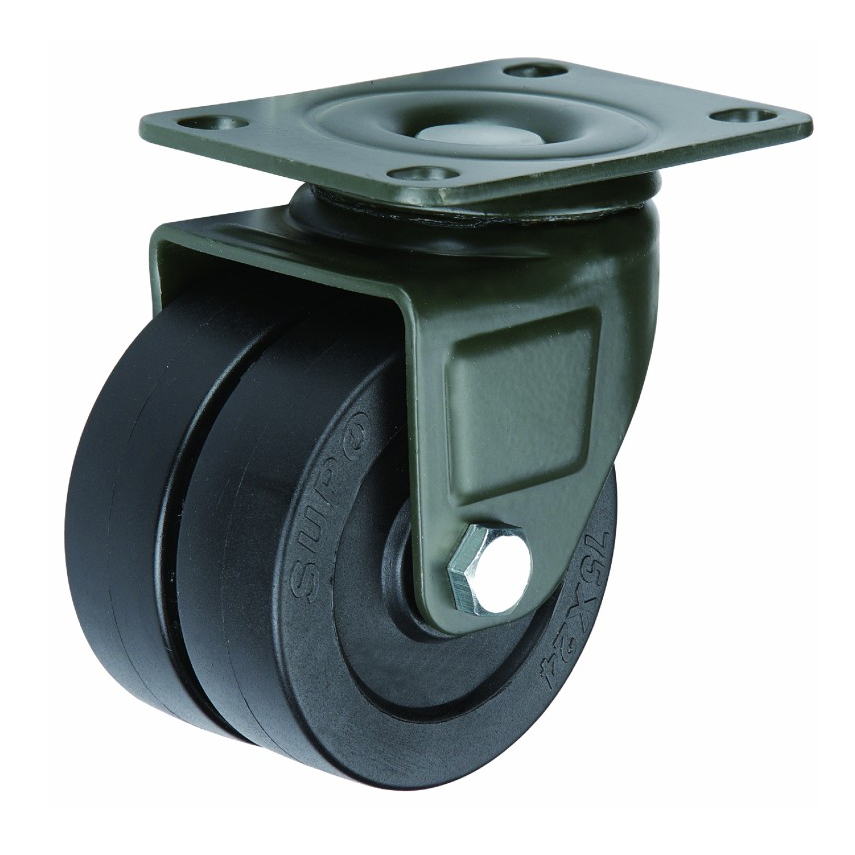 1.6 2 2.5 3 Inch Swivel Top Plate Double Twin Wheel Heavy Duty Casters