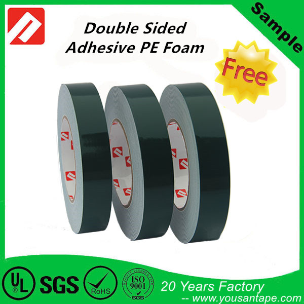 Most Strong Sticky Adhesive Double Sided PE Foam Tape Black