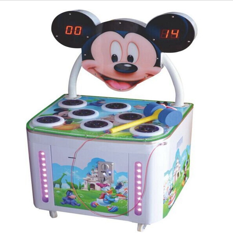 Hot Sale Game Machine Hitting Mickey-Coin Operated Frog Hitting Hammer Whack a Mole Redemption Games