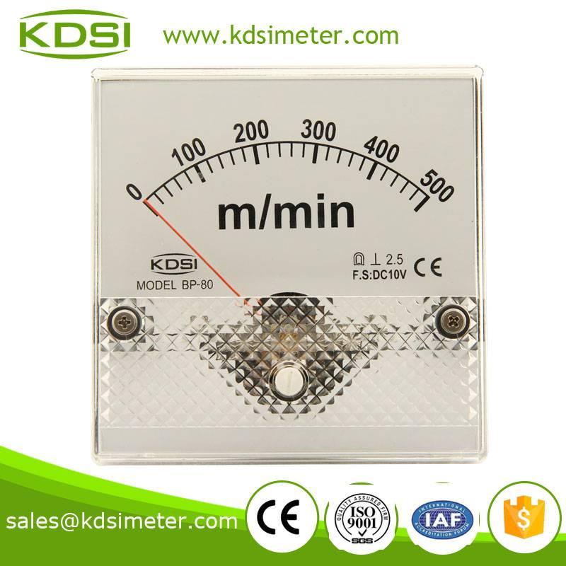 Safe to operate BP-80 DC10V 500m/min analog tachometer gauge