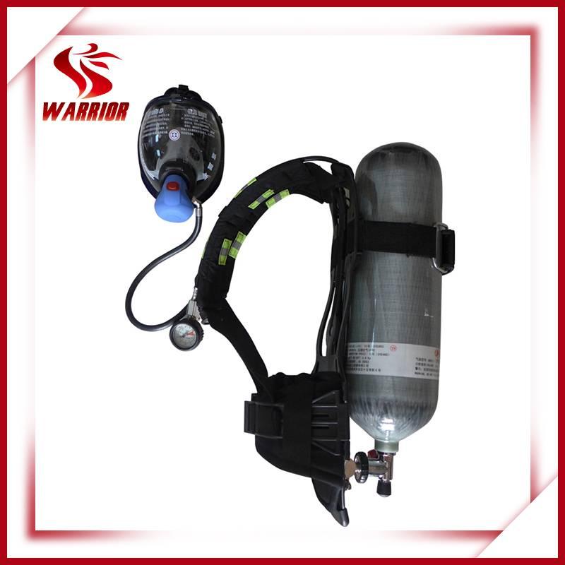 Fire fighting air breathing respirator SCBA
