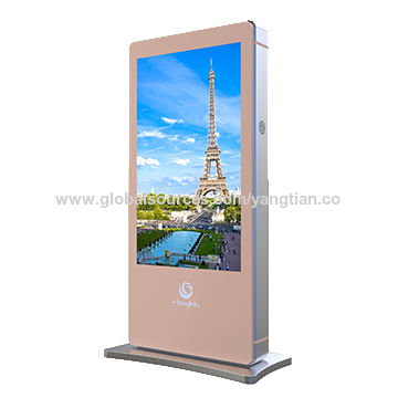 "Digital Signage Player 65"" Freestanding Ooh out of Home Outdoor Signage Solution Companies"