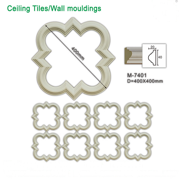 Polyurethane Interior decorative ceiling designs wall art