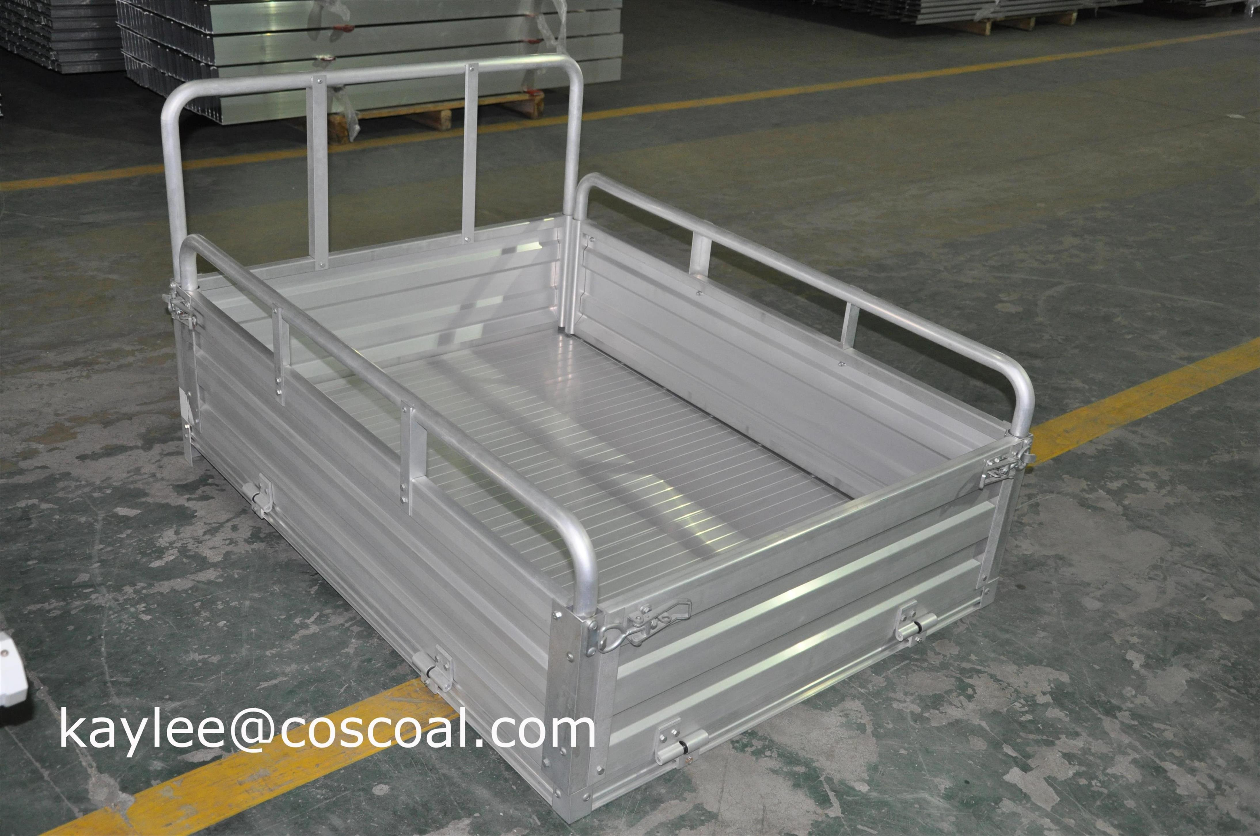 aluminum cargo bed for electric vehicle tricycle