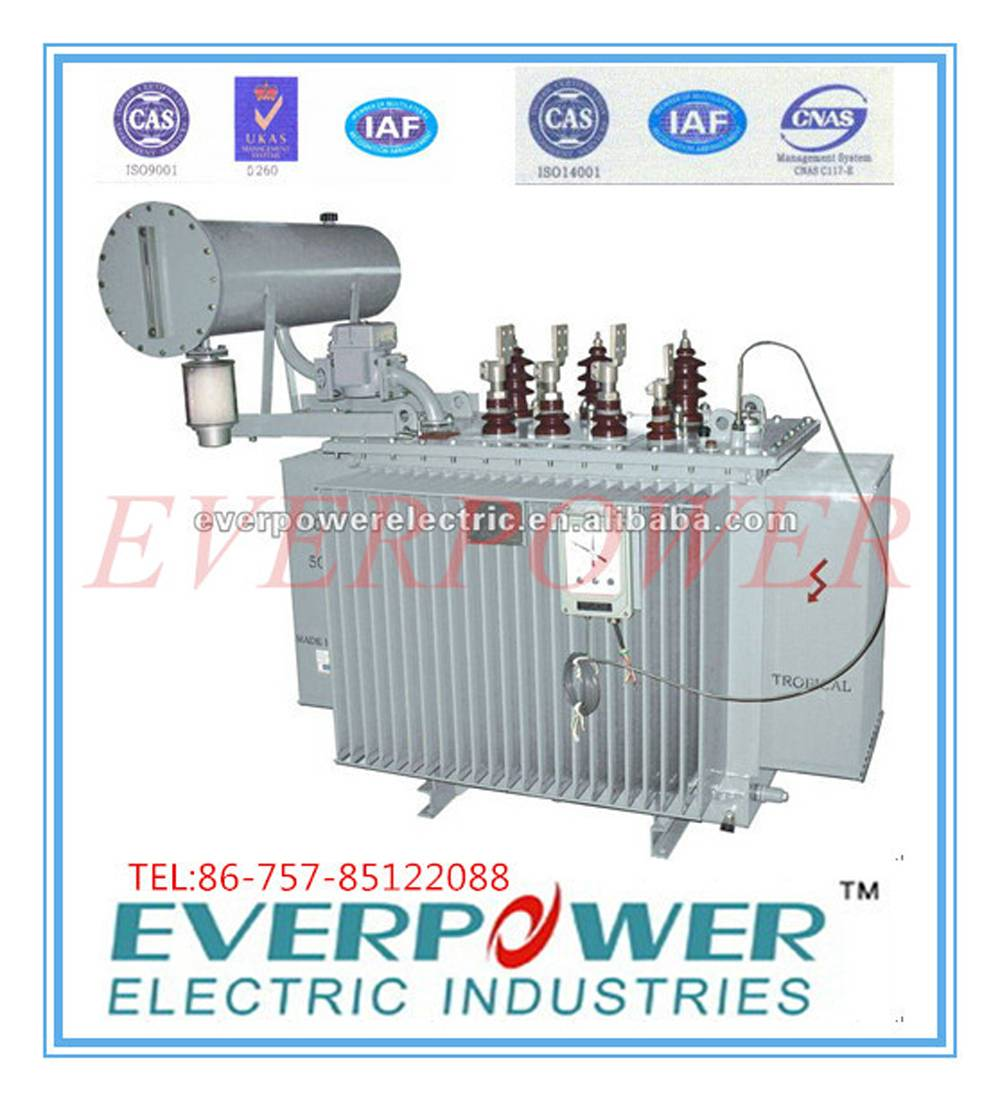 Power distribution oil immersed Three phase transformer