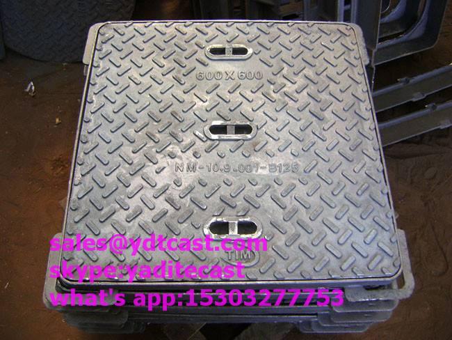 ductile iron manhole cover C250/D400